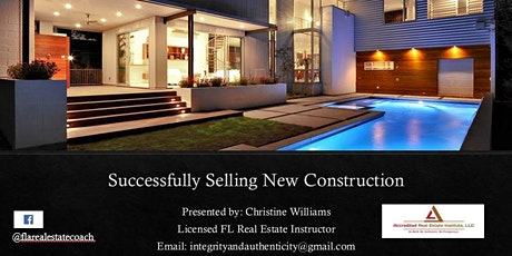 Successfully Selling New Construction tickets