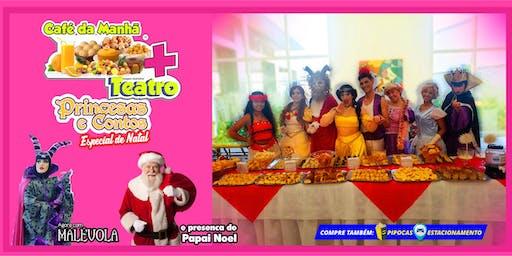 Desconto: Café da Manhã + Princesas e Contos Especial de Natal, no Teatro BTC