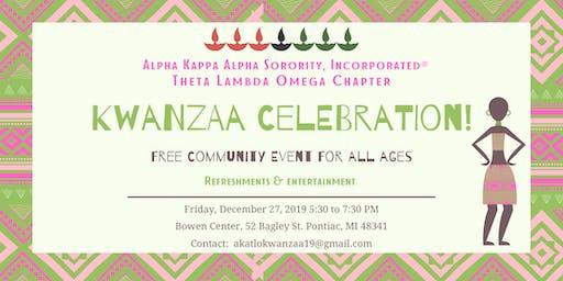 Alpha Kappa Alpha Sorority, Inc. - Theta Lambda Omega: Kwanzaa Celebration!
