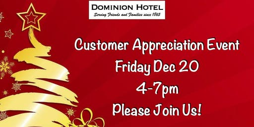 Dominion Hotel Customer Appreciation