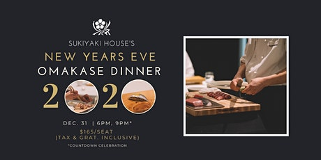 New Years Eve Omakase Dinner (Sukiyaki House) tickets