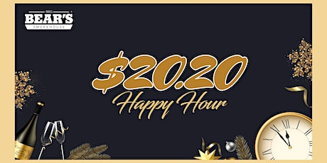 $20.20 New Years Happy Hour tickets