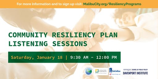 City of Malibu Community Resiliency Listening Session (Rescheduled)