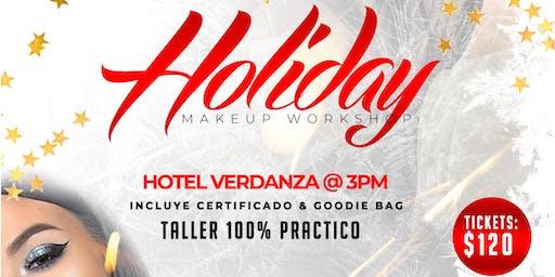 Holiday Makeup Workshop | Domingo 15 de Diciembre | Hotel Verdanza