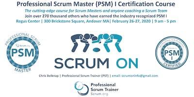 Scrum.org Professional Scrum Master (PSM) I - Andover MA  - Feb 26-27, 2020