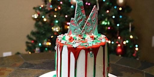 Christmas Tree Drip Cake
