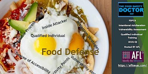 Food Defense Qualified Individuals FSPCA (IAVA-QI) Certificate Training: Grand Prairie, Tx