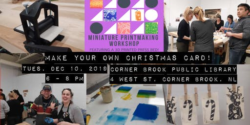 Miniature Printmaking Workshop: Make your own Christmas card!