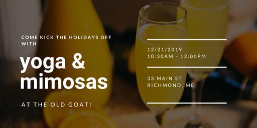 Yoga & Mimosas at The Old Goat!