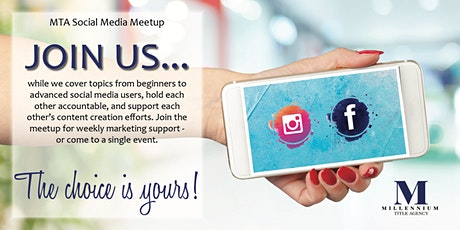MTA Social Media Meetup – Getting Started on Social, 101 Class tickets