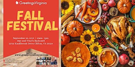 Greetings Virginia Fall Festival tickets