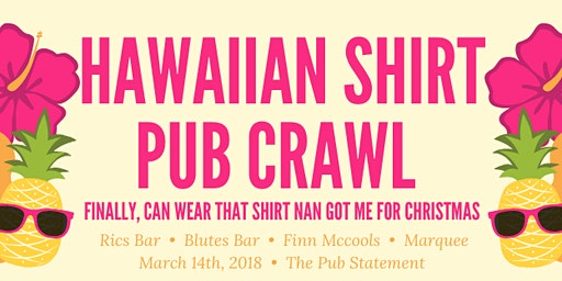 Hawaiian Shirts Valley Pub Crawl