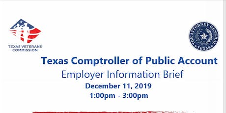 The Texas Comptroller of Public Accounts Employer Showcase tickets
