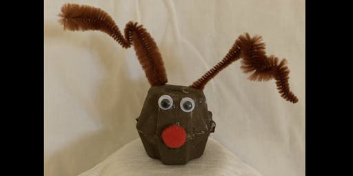 Egg Carton Reindeer - The ARTery Holiday Craft Series