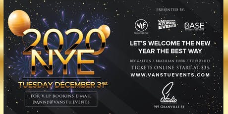 2020 New Year's Eve Party at Studio Nightclub tickets