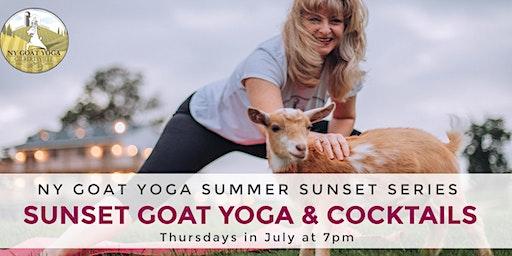 Sunset Goat Yoga & Cocktails