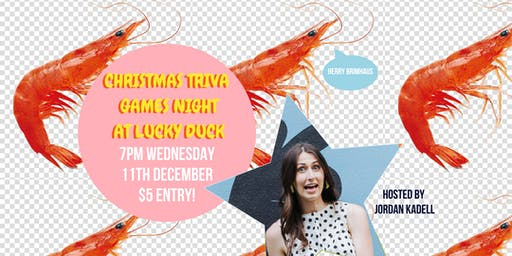 Christmas Trivia night at Lucky Duck!
