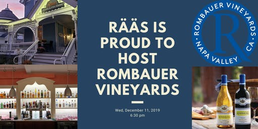 Wine Dinner with Rombauer Vineyards