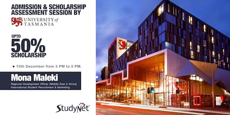 Admission and Scholarship Assessment Session by University of Tasmania in StudyNet Sydney tickets
