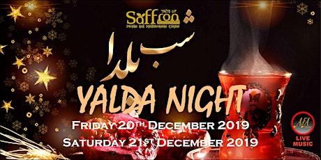 YALDA NIGHT AT TASTE OF SAFFRON RESTAURANT tickets