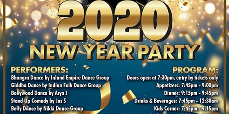 Bollywood New Year's Eve 2020 Party tickets