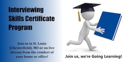 Interviewing Skills Certificate Program