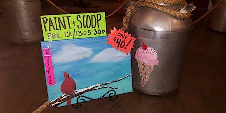 Zoe's Paint & Scoop - Red Winter Cardinal tickets