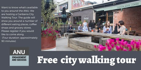 ANU Orientation city walking tour tickets