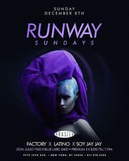 Runway Sundays @Brasier.202 - DJs Factory + Latino + Soy Jay Jay - Dec 8 tickets