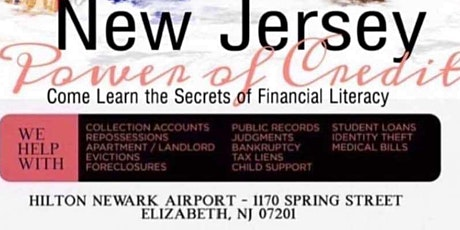 New Jersey Power of Credit - Learn the Secrets of Financial Literacy tickets