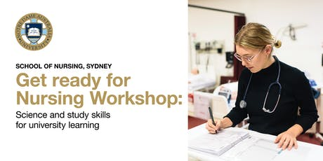 Nursing Workshop: Science and study skills for university learning tickets