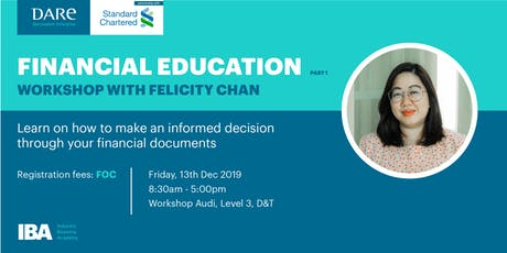 Financial Education for Entrepreneurs Part I by DARe with SCB tickets