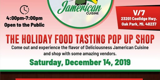 The Holiday Food Tasting Pop up Shop