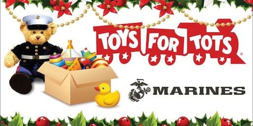Toys for Tots Drive and Vendor Blender