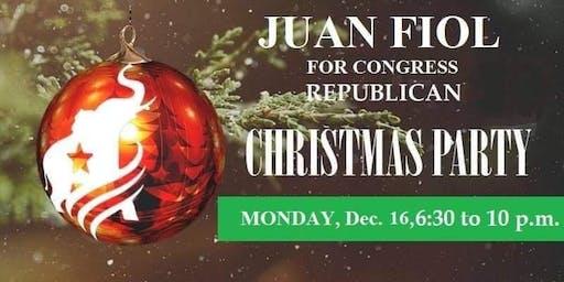 Juan Fiol Republican For Congress Christmas Fundraiser