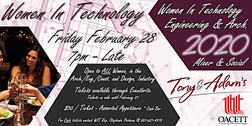 Women In Technology Engineering & Arch., Mixer and Social