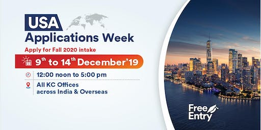 Attend USA Applications Week from 9th to 14th Dec'19 at KC Offices