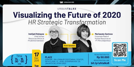 """[PAID HR EVENT] UrbanTalks """"Visualizing the Future of 2020"""" tickets"""