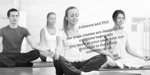 Yoga classes -  1 @6:15 pm 2 @7:20pm Pilates and 3 @ 8:30pm Yoga