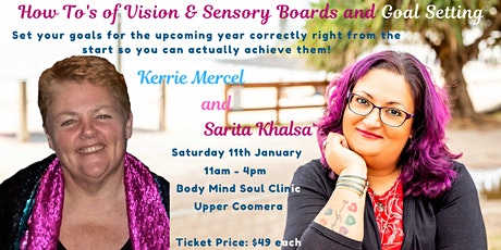 How To's of Vision & Sensory Boards & Goal Setting tickets