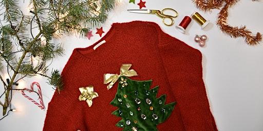 Atelier pull moche de Noël à l'atelier Talents Croisés