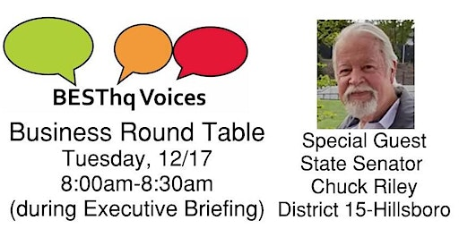 BESThq Voices:  Round Table with State Senator Riley