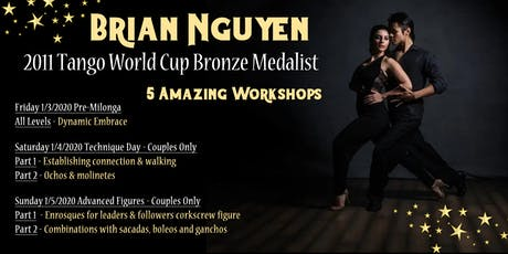 Tango Workshops with Brian Nguyen - Tango World Cup Bronze Medalist tickets