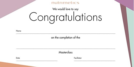 NUTRIMETICS MASTERCLASS FACILITATORS DAY tickets