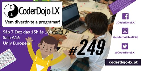 CoderDojo LX #249 - Vem Programar o teu Postal de Natal bilhetes