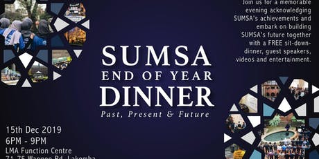 SUMSA End of Year Dinner: Past, Present & Future tickets