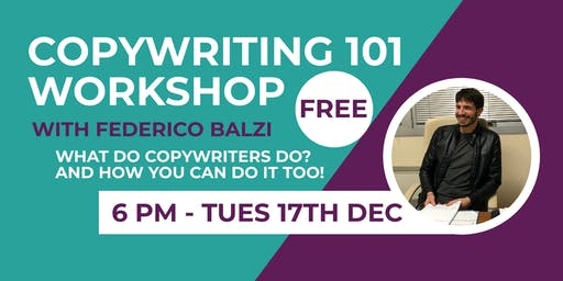 Copywriting 101 Workshop