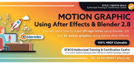 AUTHORISED TRAINING: MOTION GRAPHICS using Adobe After Effects & Blender 2.8 tickets