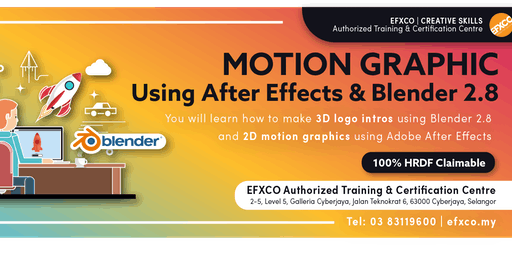 AUTHORISED TRAINING: MOTION GRAPHICS using Adobe After Effects & Blender 2.8