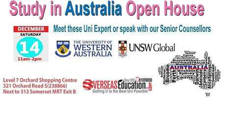 Study in Australia - Meet Uni of Western Australia & UNSW Global tickets